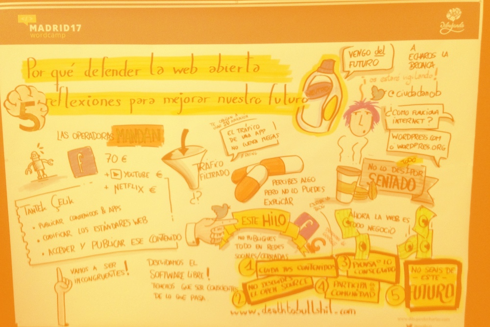 Resumen gráfico de la charla