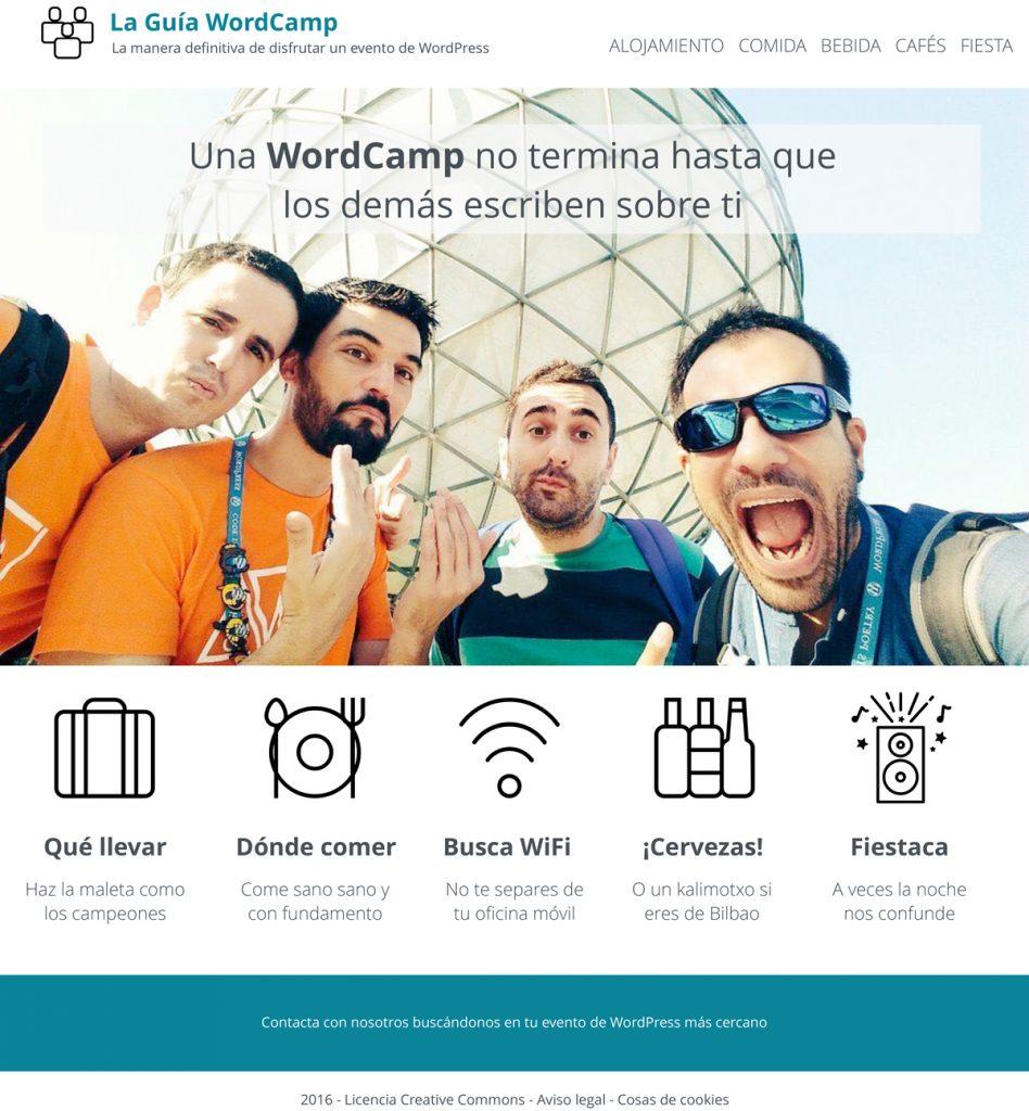 Diseño de la guía WordCamp