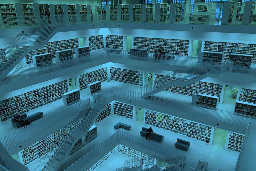 Mucho contenido en una biblioteca