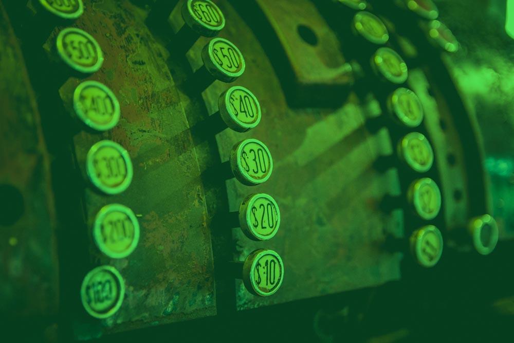 Máquina registradora antigua